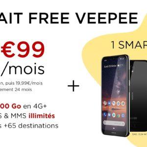 #BonPlan : Free Mobile offre un smartphone avec son forfait 100 Go à 9,99¬/mois pendant 1 an