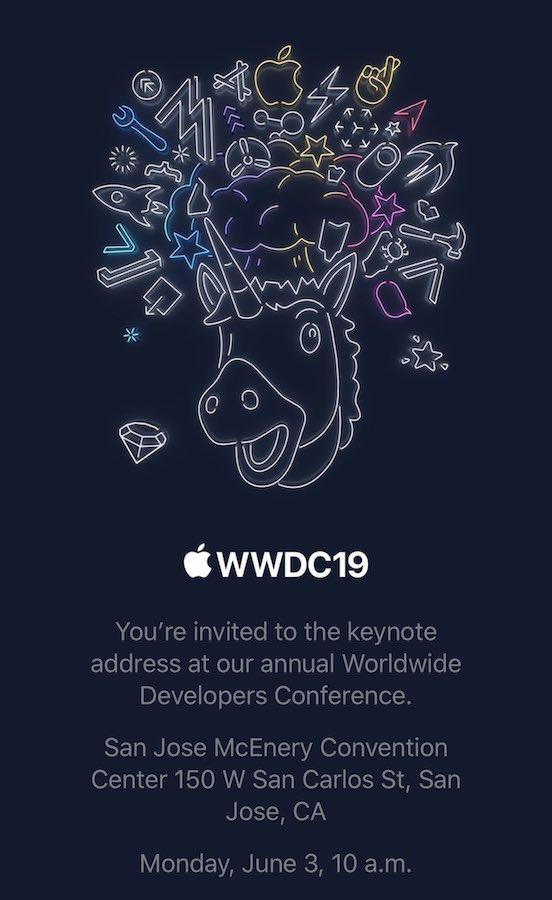 Invitation Keynote WWDC 2019