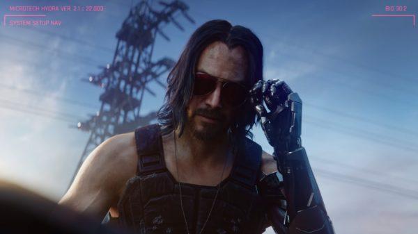 Keanu Reeves Cyberpunk 2077 600x337