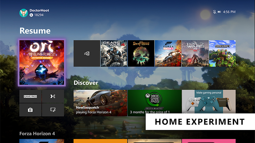 Xbox One Nouvelle Interface 2019
