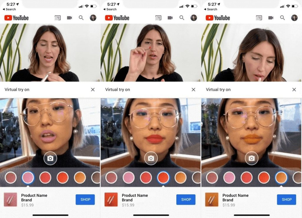 YouTube Maquillage Realite Augmentee 1024x739