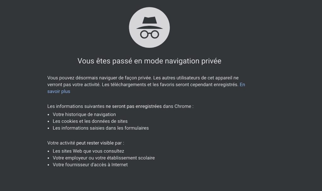 Chrome Navigation Privee 1024x609