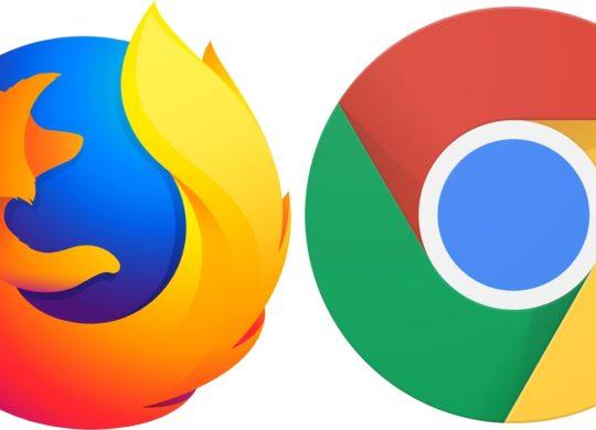 Firefox vs Chrome Logos