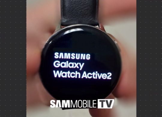 Fuite Galaxy Watch Active 2