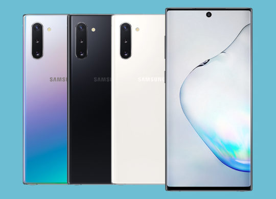 Galaxy Note 10 Avant Arriere Coloris