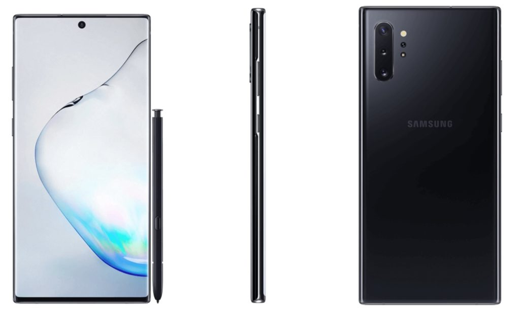 Galaxy Note 10 Plus Avant Arriere Noir 1024x614