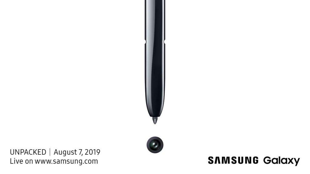 Invitation Samsung Galaxy Note 10 7 Aout 2019 1024x576
