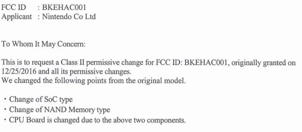 Nintendo Switch Demande FCC Changer Processeur 1024x447