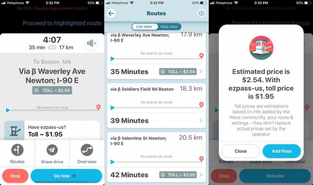 Waze affiche maintenant le prix des péages pour l'itinéraire