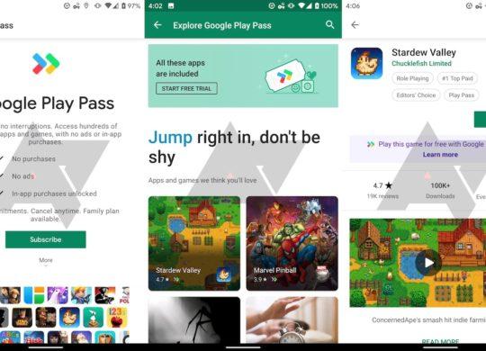 Fuite Google Play Pass