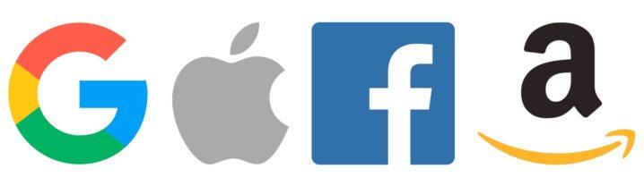 GAFA Google Apple Facebook Amazon Logos