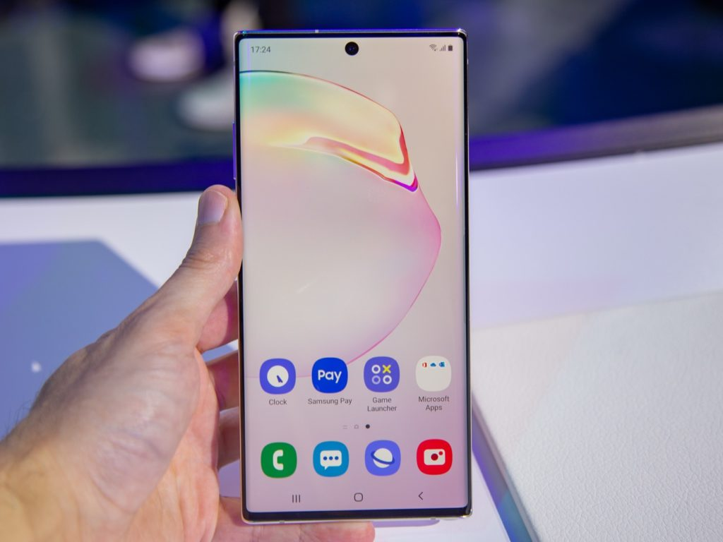 Galaxy Note 10 Avant Ecran 1024x768
