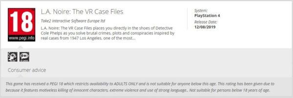 LA Noire The VR Case Files 600x201