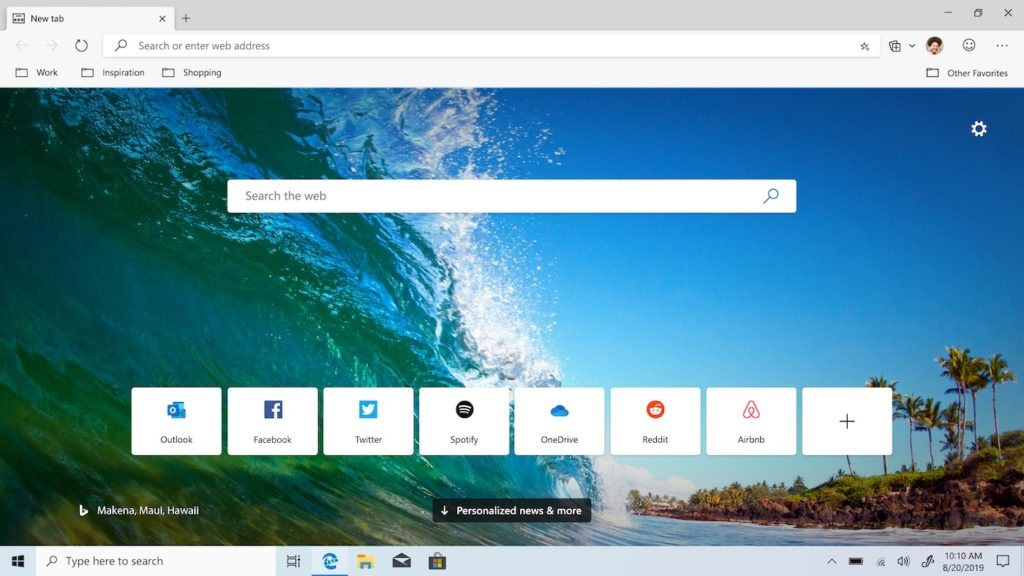 Microsoft Edge Chromium Beta 1024x576