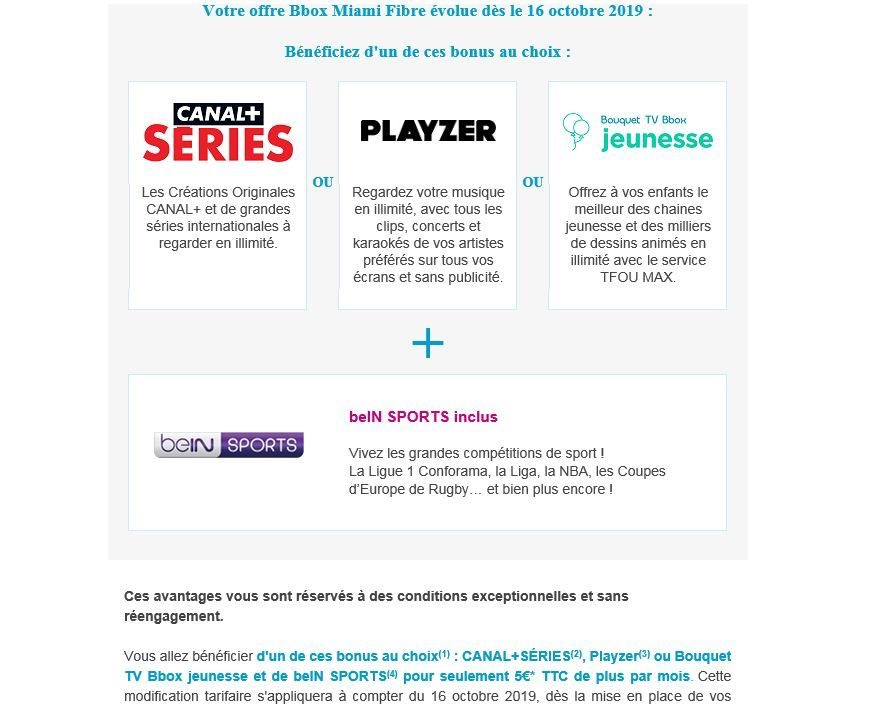 Bouygues Bbox Hausse Prix Octobre 2019