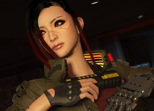 Cyberpunk personnage femme