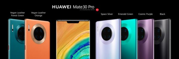 Huawei Mate 30 Pro Avant Arriere 600x200