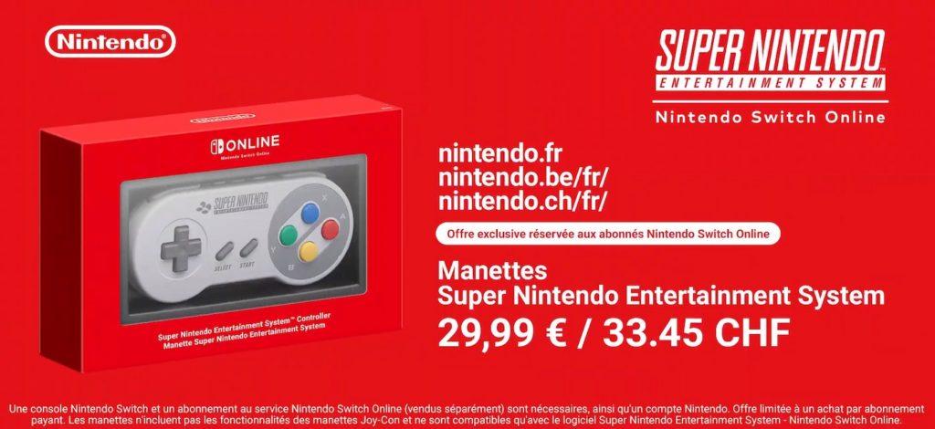 Manette SNES Pour Switch 1024x470