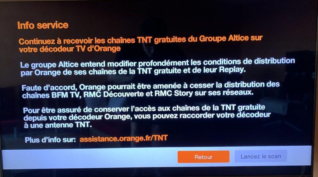 Message Orange Coupure Potentielle BFM TV 1024x571