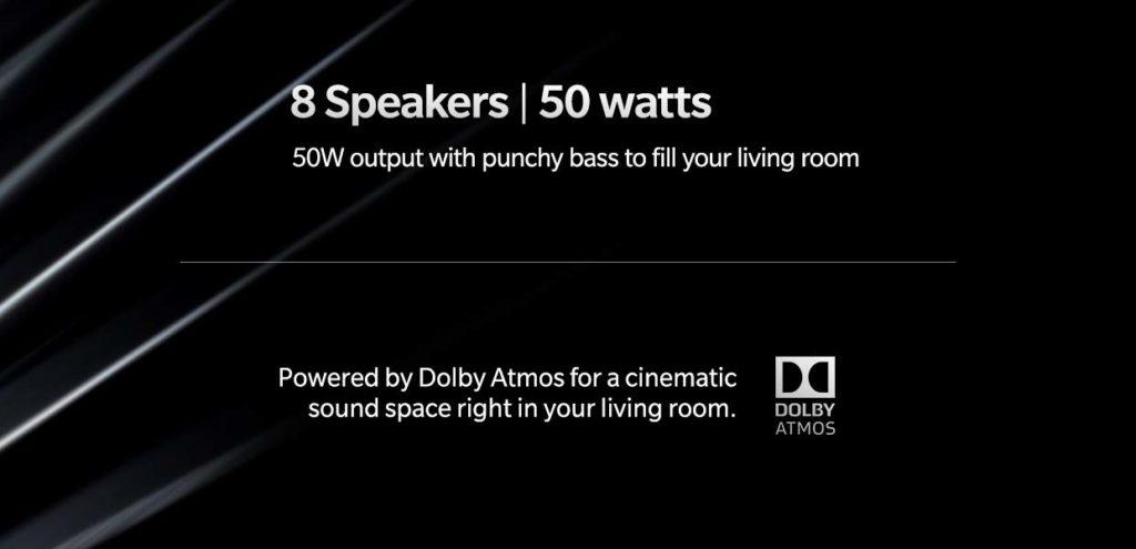 OnePlus TV Haut Parleurs 1024x495