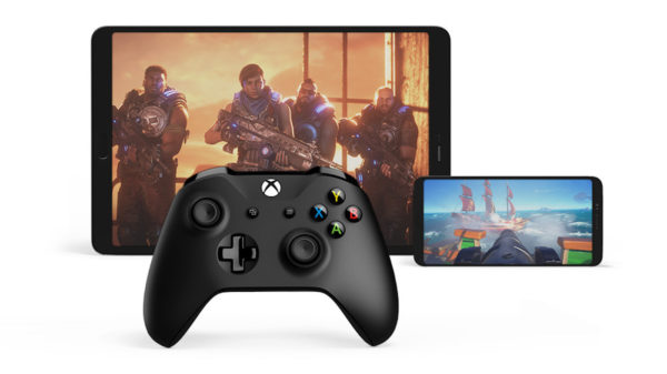 Projet XCloud Smartphone Tablette Manette Xbox One 600x337