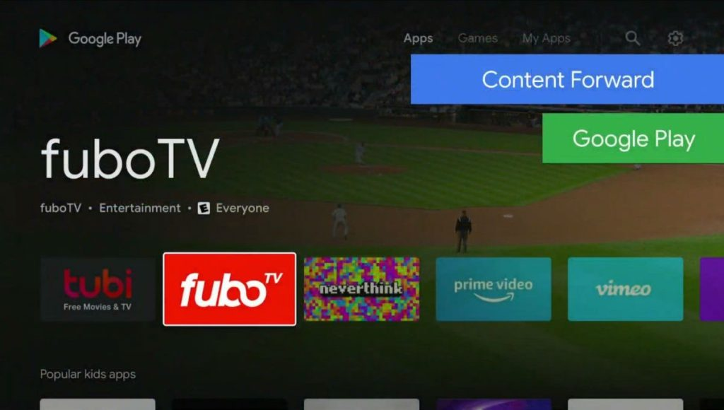 Android TV Play Store Nouveau Design 1024x580
