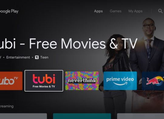 Android TV Play Store Nouveau Design Accueil