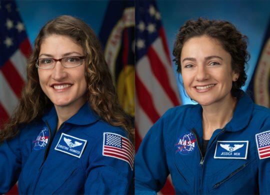 Christina Koch et Jessica Meir NASA astronauts