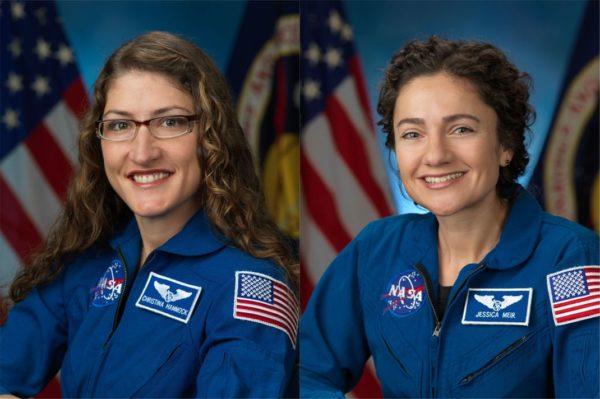 Christina Koch Et Jessica Meir NASA Astronauts 600x399