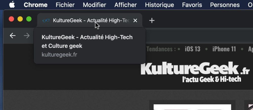 Google Chrome 78 Nouvel Affichage Survol Onglet 1024x448