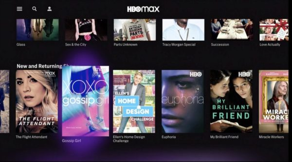 HBO Max Interface 600x333