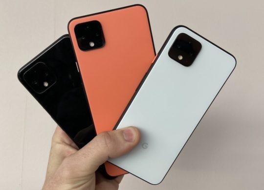 Pixel 4 Arriere Noir vs Orange vs Blanc