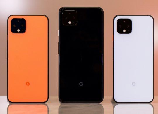 Pixel 4 Arriere Orange Noir Blanc