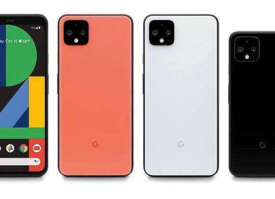 Pixel 4 et Pixel 4 XL Avant Arriere Coloris