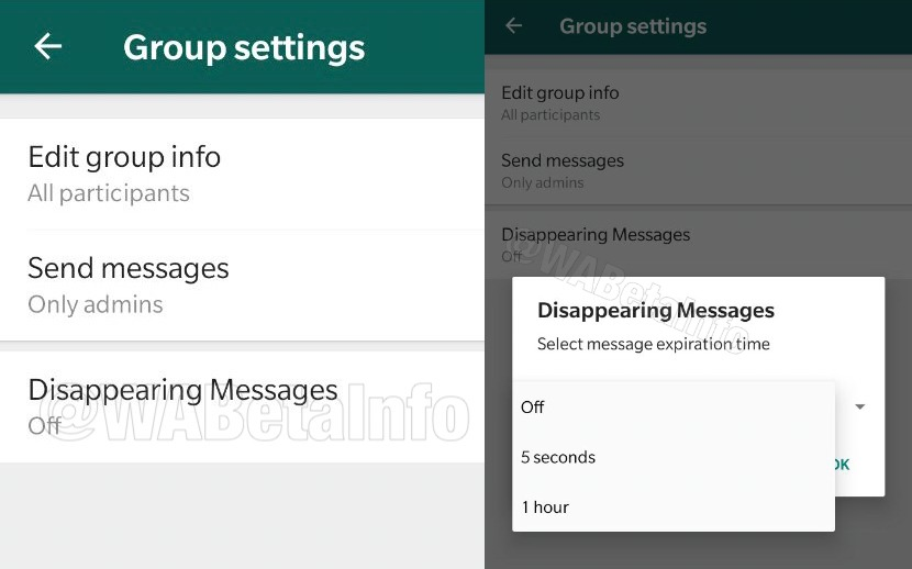 WhatsApp Messages Temporaires