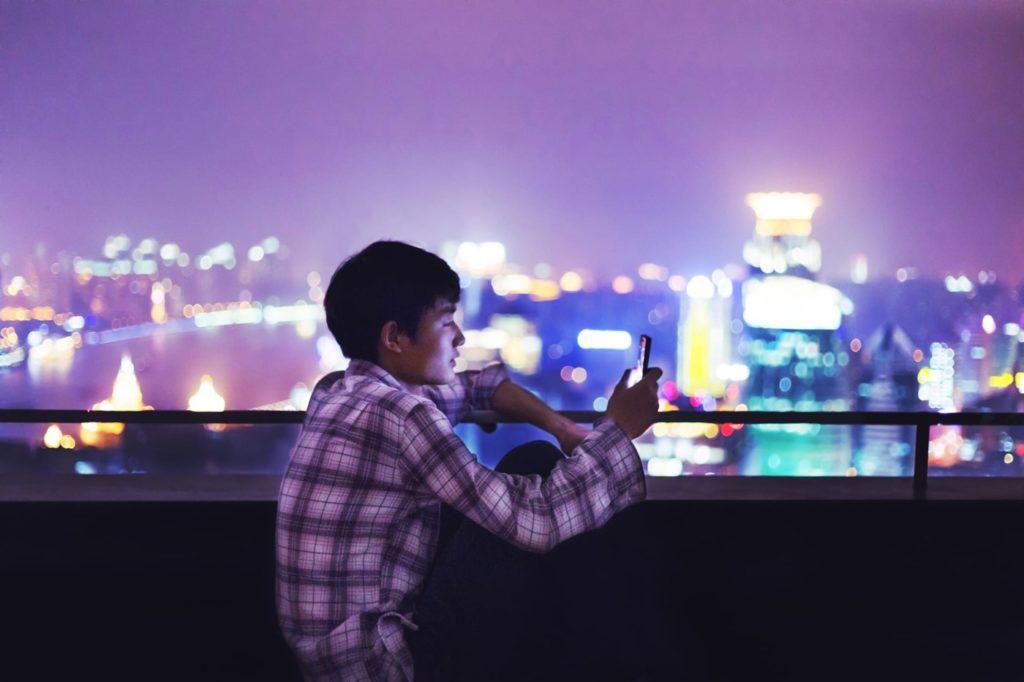 Chinois Smartphone Shanghai Chine 1024x682