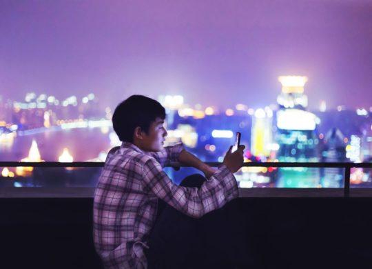Chinois Smartphone Shanghai Chine