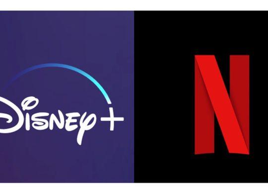 Disney Plus vs Netflix Logos