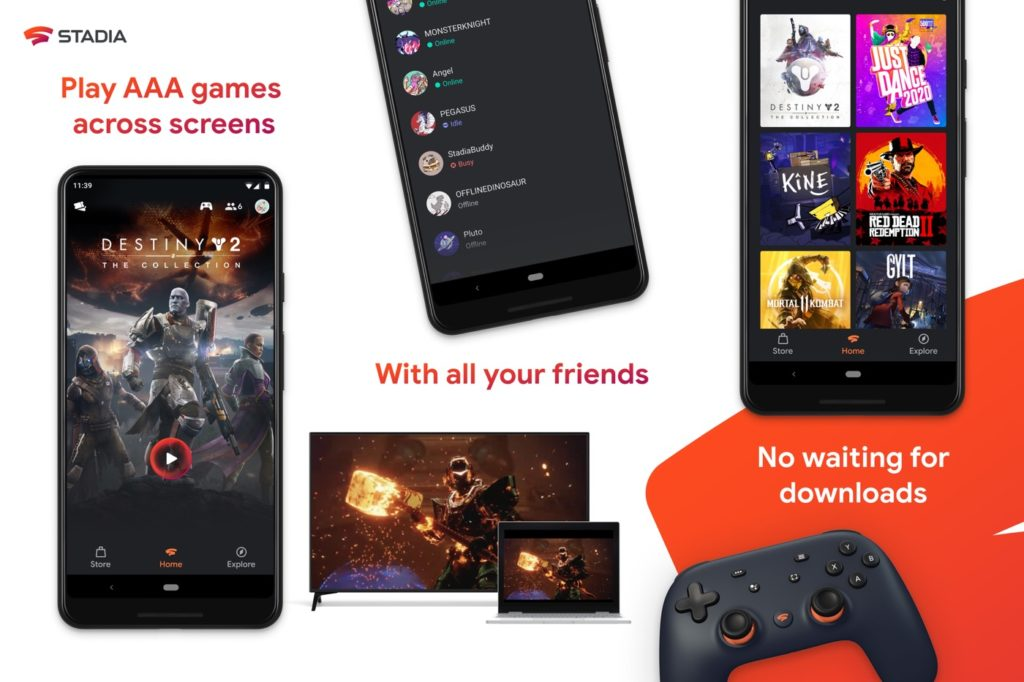 Google Stadia Application Android 1024x682
