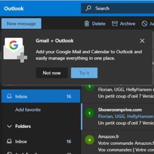 Image article Microsoft va proposer Gmail et les autres services de Google dans Outlook