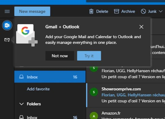 Outlook Integration Gmail