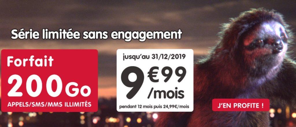 Promo Forfait NRJ Mobile 200 Go Novembre 2019 1024x440