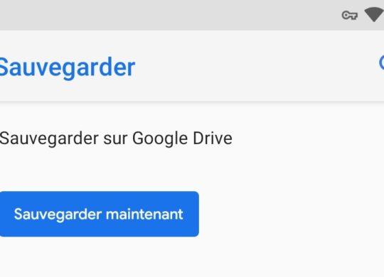 Sauvegarde Donnees Android