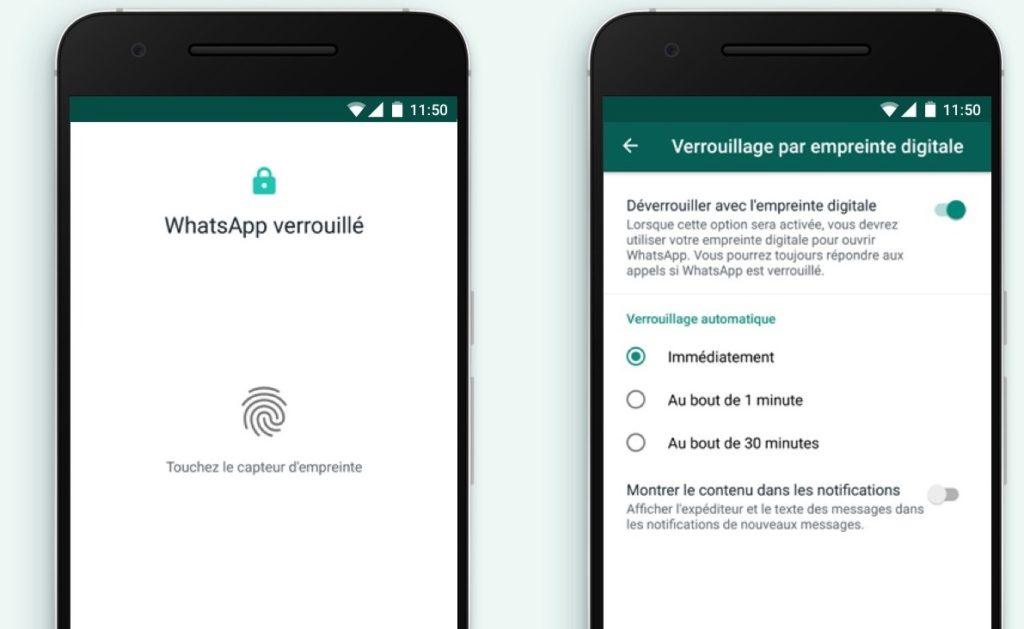 WhatsApp Android Deverouillage Empreinte 1024x629