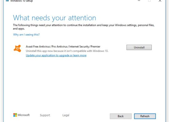 Windows 10 Mise A Jour Bloquee Avast
