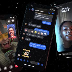 Image article Facebook Messenger se met aux couleurs de Star Wars pour l'épisode 9