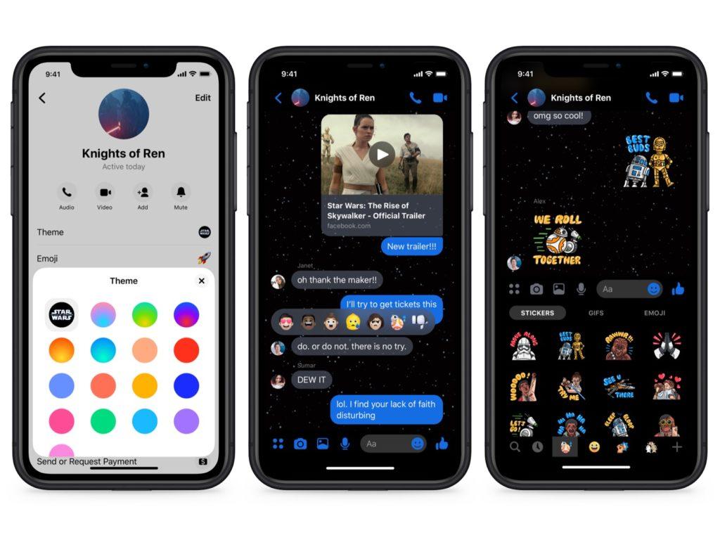 Facebook Messenger Star Wars Autocollants 1024x768