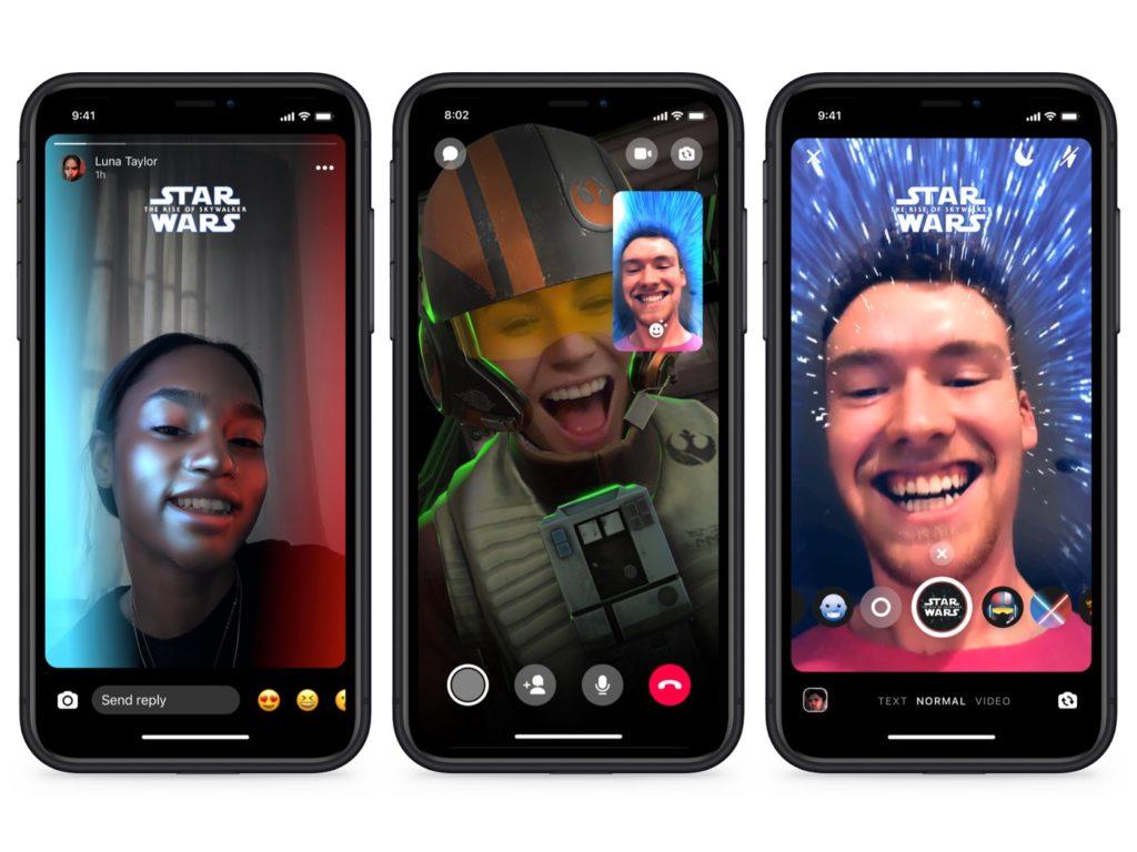 Facebook Messenger Star Wars Filtres 1024x768