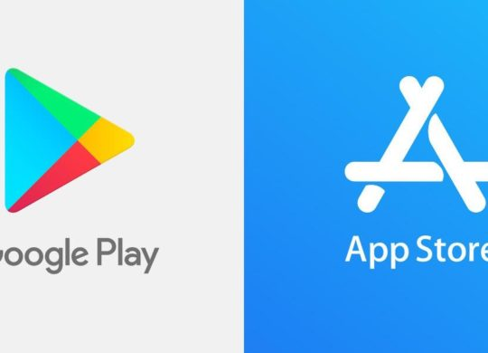 Google Play Store vs App Store Logos