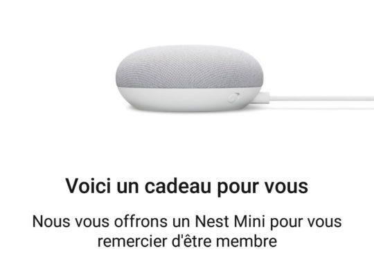 Nest Mini Offert YouTube Premium